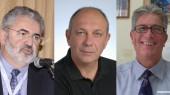 Από αριστερά οι καθηγητές Γιώργος Πετράκος, Ζήσης Μαμούρης και Ιωάννης Κουτεντάκης.