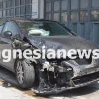 To μαύρο Seat Leon με το οποίο συγκρούστηκε το Nissan της άτυχης υποσμηναγού.