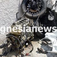 Η μηχανή εκσφενδονίστηκε από το όχημα