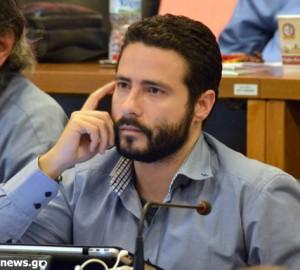 Ο  ανεξάρτητος δημοτικός σύμβουλος Βόλου κ. Ιάσονας Αποστολάκης.