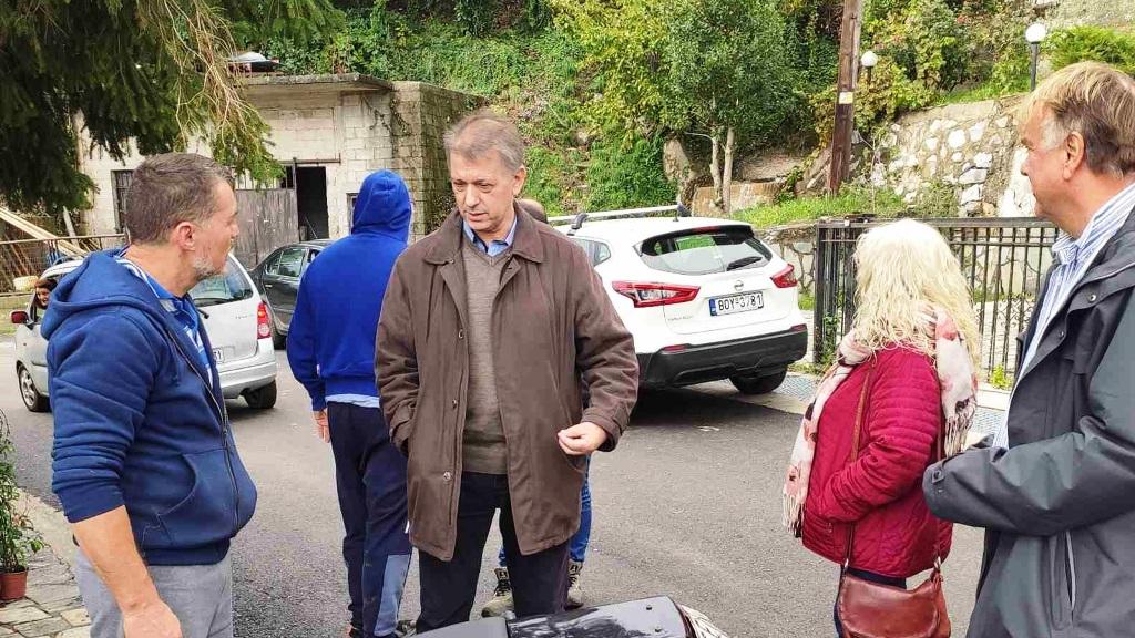 Περιοδεία στελεχών του ΚΚΕ στα πλημμυρόπληκτα χωριά του Πηλίου